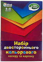 Набор двухстороннего цветного картона и бумаги А4 16 листов для творчества Ц380002У