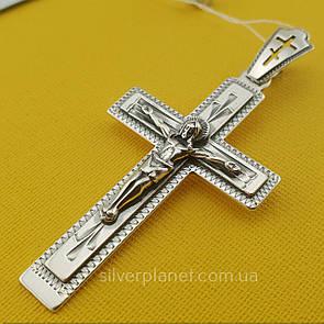 Серебряный мужской кулон. Православный крестик 3760