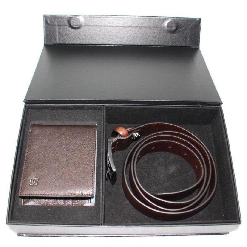 Подарунковий набір Piquadro BK SQUARE/D. Brown CUBOX14B3R_TM