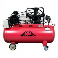 Компрессор Vitals Professional GK100.j653-12a (3 кВт, 516 л/мин, 100 л), трёх цилиндровый, ременной