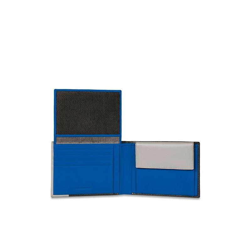 Портмоне PIQUADRO чорний PULSE/Black-Blue PU1392P15_NB