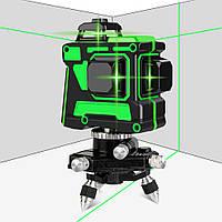 Лазерний рівень Hilda 3D Зелений на 360 градусів  самовирівнюється нівелір