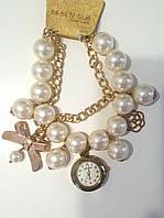 Жемчужные наручные женские часы браслет XW158, фото 1