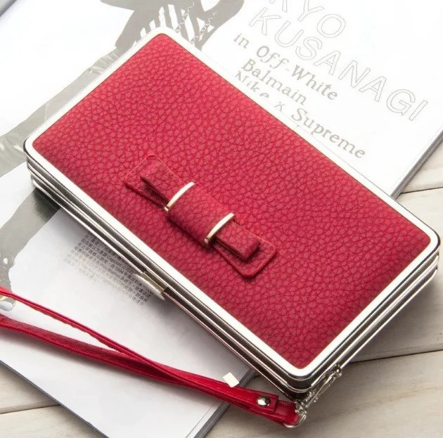 Женский кошелек портмоне BAELLERRY Pidanlu Style Красный с черным