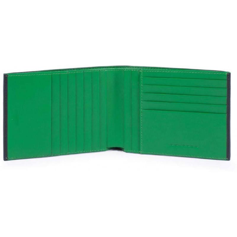 Портмоне Piquadro SPLASH/Black-Green PU1241SPLR_NV