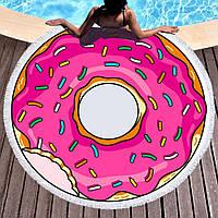 """Пляжное полотенце-покрывало """"Пончик"""""""
