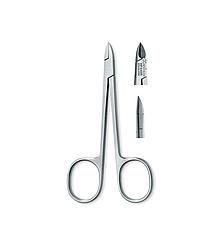 Щипцы для кожи, лезвие 8 мм, инструментальная сталь, 10,5 см