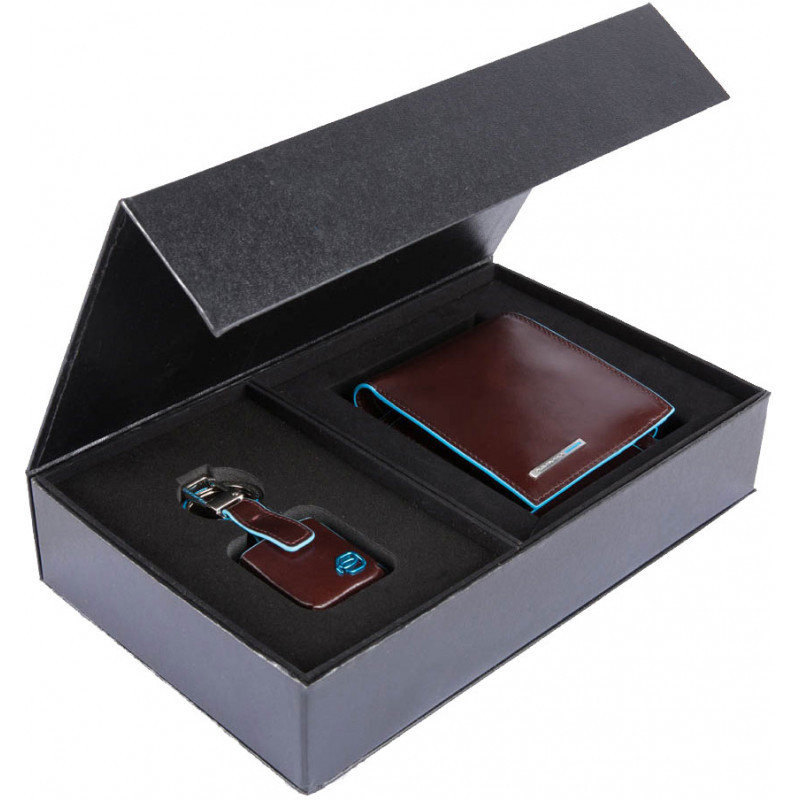 Подарунковий набір Piquadro BL SQUARE/Cognac ACBOX13B2R_MO