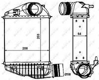 NRF 30015 Радиатор интеркулера для AUDI A6 (4F2, C6), AUDI A6 Avant (4F5, C6)