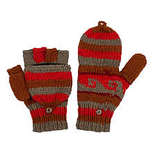 Перчатки варежки вязанные ручной работы