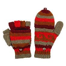 Женские варежки перчатки с откидным верхом