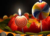 """Свічки в торт """"Цукерка"""", 3 шт, Набор свечей в торт """"Конфета"""", фото 3"""