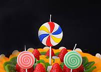 """Свічки в торт """"Цукерка"""", 3 шт, Набор свечей в торт """"Конфета"""", фото 2"""