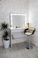 Стол  гримерный с зеркалом,тумбами и подсветкой СВ-15