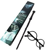 Волшебная палочка и очки Гарри Поттер, набор косплей аксессуаров - Harry Potter, Cosplay