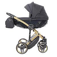 Всесезонная детская коляска 2 в 1 для новорожденных универсальная Junama Saphire 03 Черный
