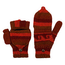 Теплые женские варежки перчатки ручной работы