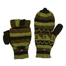 Красивые вязанные перчатки варежки с узором