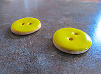 Керамічні ґудзики жовті 25 мм