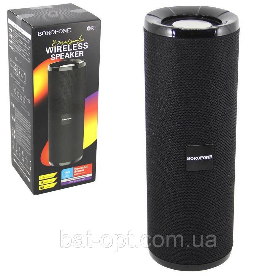 Портативная Bluetooth колонка Borofone BR1 (BT,FM,MicroSD/TF,AUX,USB) черная