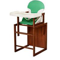 Деревянный стульчик-трансформер для кормления Bambi CH-D3 Зеленый