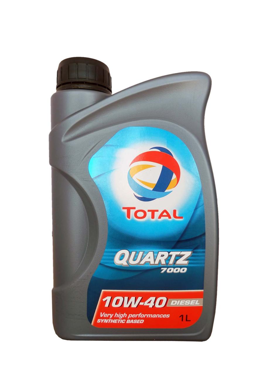 TOTAL Олива моп. QUARTZ D 7000 10W40 1л API SL/CF