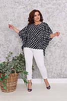Женский костюм  брюки с туникой большие размеры 222 размеры 4850;5254;5658