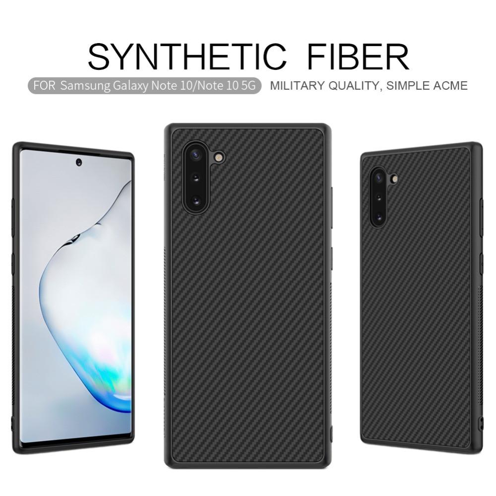 Карбоновый чехол для Samsung Note 10 Nillkin Synthetic Fiber