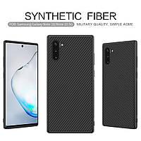 Карбоновый чехол для Samsung Note 10 Nillkin Synthetic Fiber, фото 1