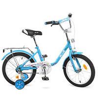 Двухколесный велосипед для детей 16 дюймов Profi L1684 Flower Голубой