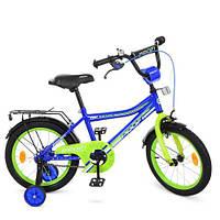 """Велосипед детский двухколесный PROF1 16"""" Top grade Синий"""