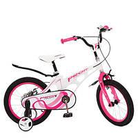 """Велосипед детский двухколесный PROF1 18"""" Infinity Белый с розовым"""