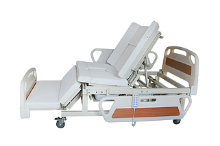 Медичне функціональне електро ліжко з туалетом і боковим переворотом MIRID E39. Ліжко для високих людей. Туалет на пульті., фото 3