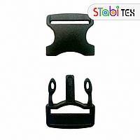 Пряжка фастекс пластик 20мм SLS ZYC-2026 черная (500шт./уп.)
