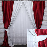 Комбинированные шторы из ткани блекаут.Код 014дк(400-409)(1,6*2,9) 10-089