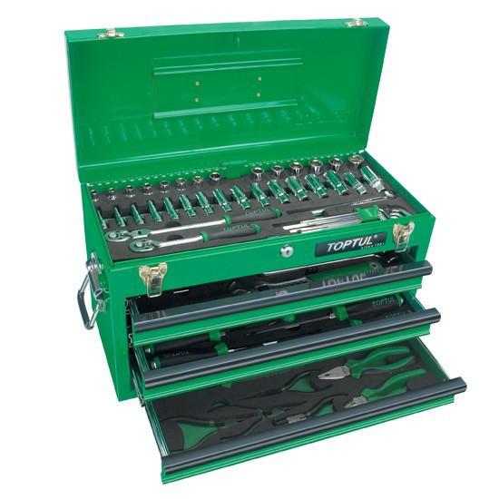 Ящик з набором інструментів для автосервісу TOPTUL 3 секції 82 од. GCAZ0016