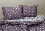 Полуторный комплект постельного белья из хлопка Полуторний комплект постільної білизни на молнии S345, фото 6