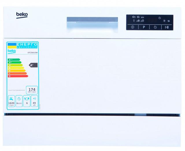 Посудомоечная машина компактная BEKO DTC 36610 W