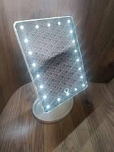 Зеркало с подсветкой квадратное для макияжа 22 led Белое