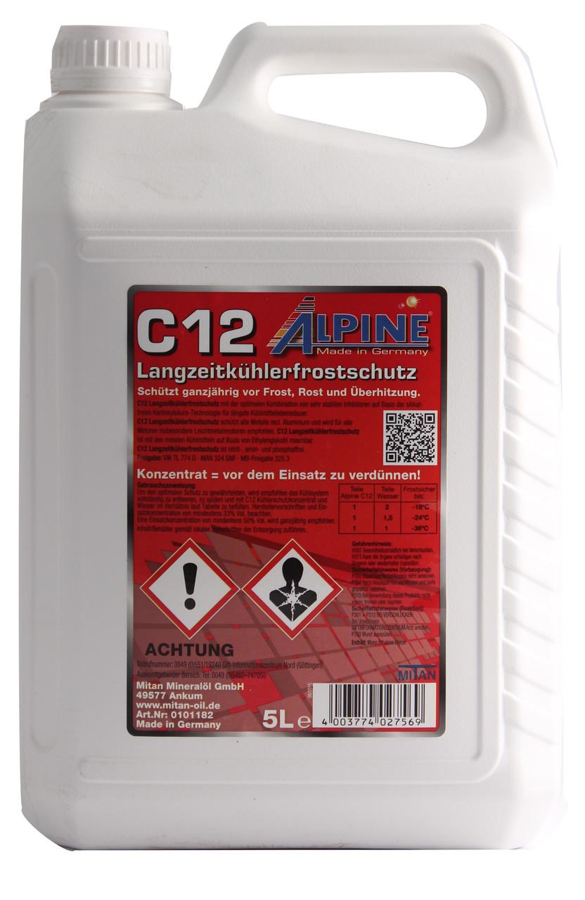 ALPINE Охолод. рідина (концентрат) C12 5л червона