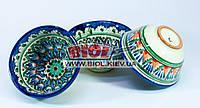 Набор 3шт. пиал узбекских 230мл 11х5,5см, ручная роспись (вариант 3)