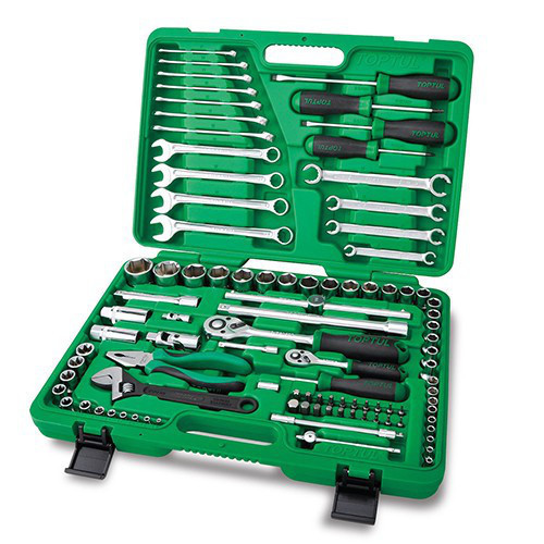 Комбінований набір інструментів в кейсі 96ед. TOPTUL GCAI9601