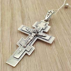 Массивный Крест серебряный 925 пробы. Кулон из серебра для мужчины.