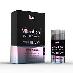 Intt Vibration Bubble Gum - Жидкий вибратор со вкусом бабл гам