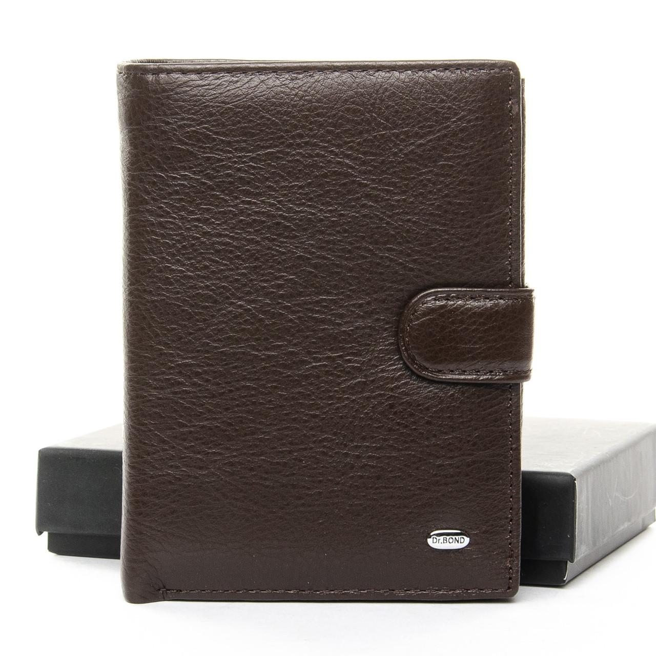 Мужской кожаный кошелек правник Dr. Bond, Натуральная Кожа