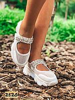 Женские  летние босоножки спортивные на платформе белые 36,38,39,40 размер