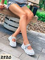 Женские  летние босоножки спортивные на платформе белые 36,39,40 размер