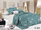 Полуторный комплект постельного белья из хлопка Полуторний комплект постільної білизни на молнии S352, фото 2