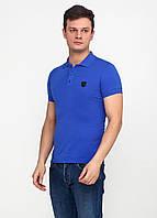 Футболка-поло мужская синяя  EL & KEN с логотипом, XL