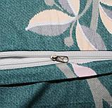 Полуторный комплект постельного белья из хлопка Полуторний комплект постільної білизни на молнии S352, фото 7